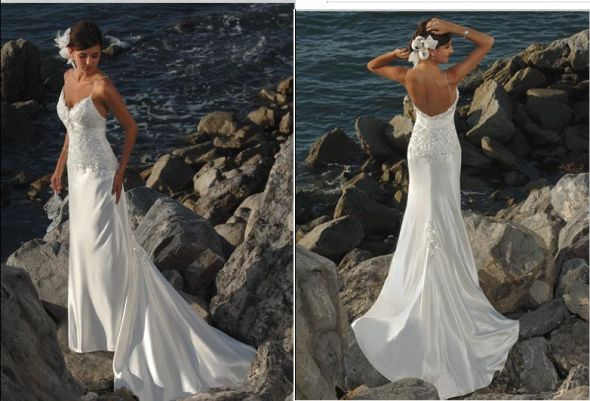 blue greek wedding dress