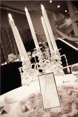My Vintage Hollywood Glam Floral and Candelabra Centerpieces wedding