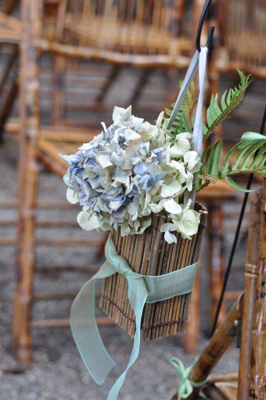 Dried hydrangea centerpieces weddingbee