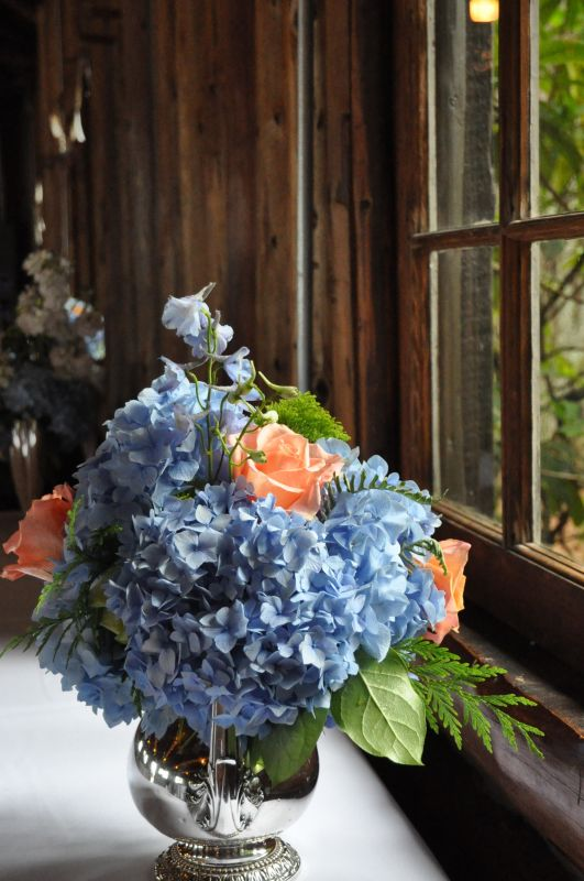 Dried hydrangea centerpieces weddingbee