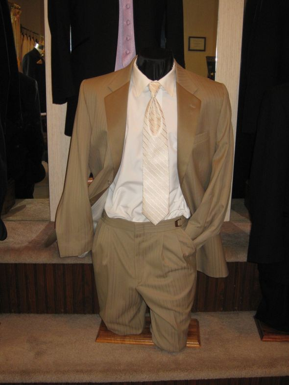 We are October 2 in Wisconsin and doing tan suits from DuBois formalwear