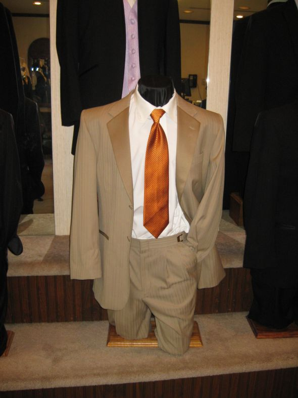 wedding groomsman suits WeddingAttire 002 Groomsmen question Tan suits in