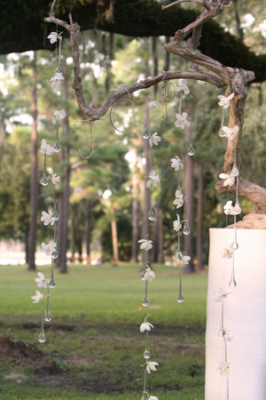 How to Decorate my Ceremony Arbor wedding ceremony decor ribbons Crystals
