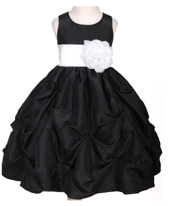 Flower Girl Dresses sizes 210 wedding flower girl dresses 301blackwhitea