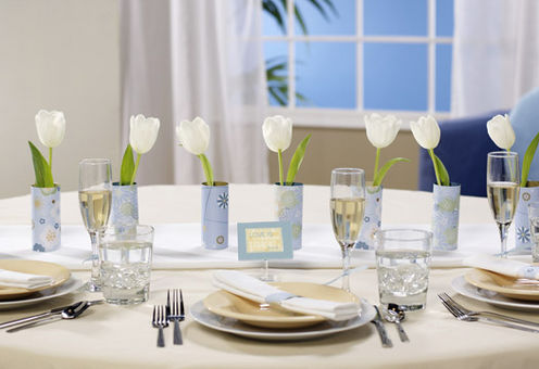 White Floral Wedding Centerpieces
