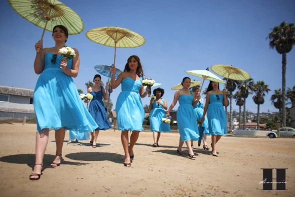 My cousin used parasols for her beach wedding instead of flowers