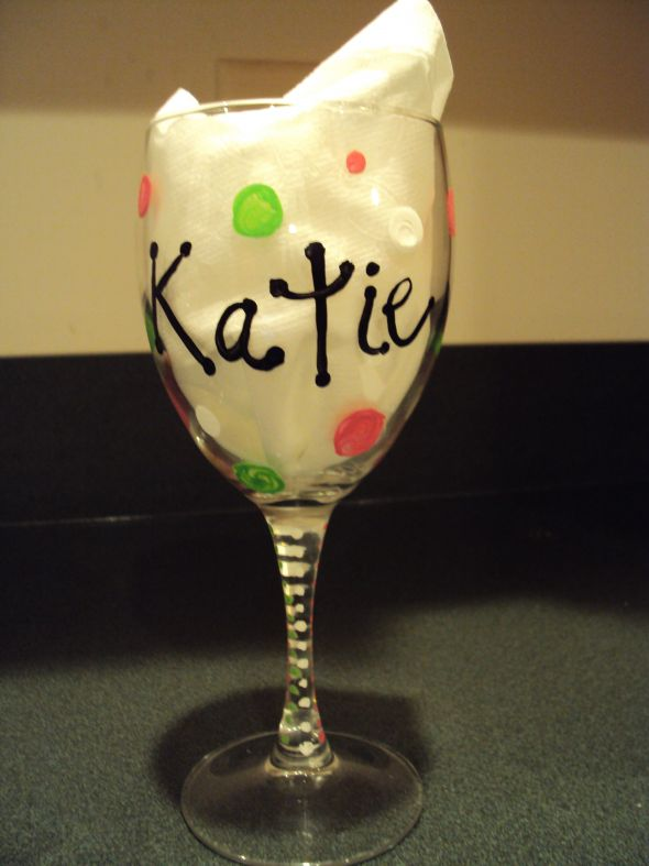 Handpainted wine glasses lolita who weddingbee photo for Do it yourself wine glasses