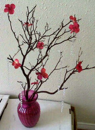 DIY Manzanita Tree Centerpiece wedding manzanita tree centerpiece diy