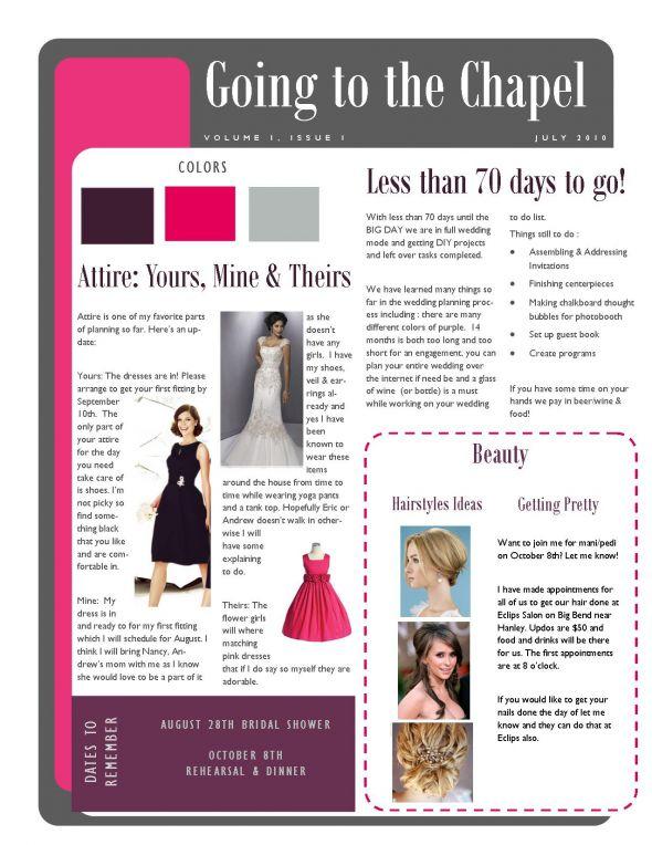 bridesmaid newsletter i weddingbee photo gallery With bridesmaid newsletter template