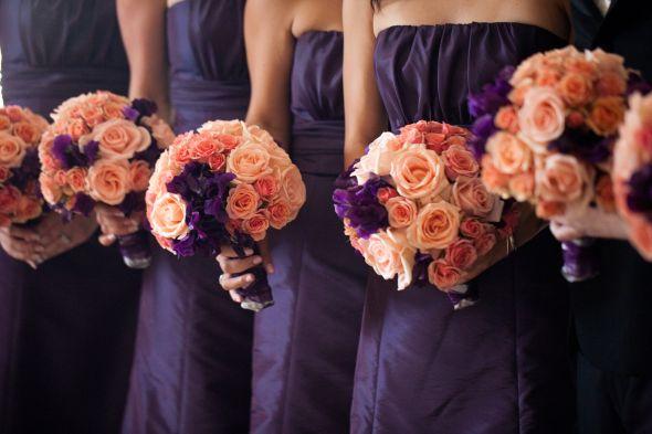 Orange and Purple Wedding Colors wedding purple orange inspiration NG 067
