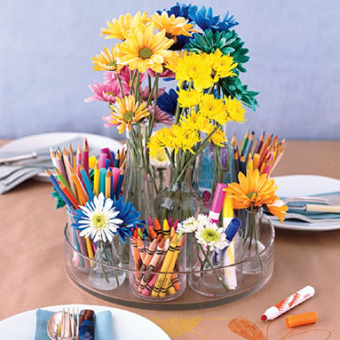 Kids Table Centerpieces help wedding kids centerpieces
