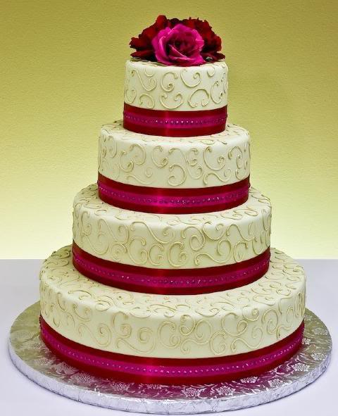 My Cake wedding cake pink ribbon Ribbon Cake