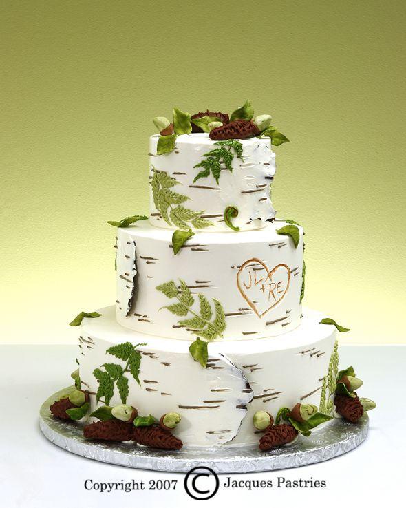 Love This Birch Tree Cake