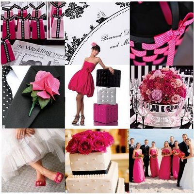 Need stuff for my watermelon black damask wedding wedding Hot Pink And