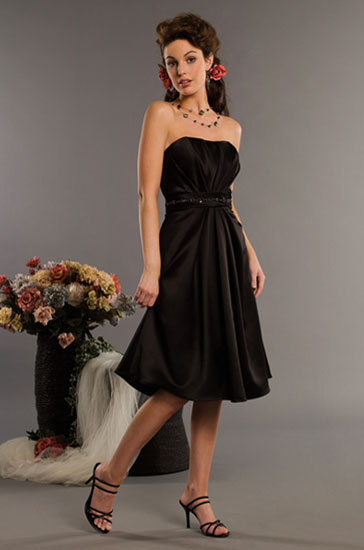 black and white bridesmaid dresses. show off your lack bridesmaid