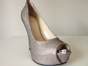 Bride Shoes :  wedding bling bride shoes shoes silver BrideShoes