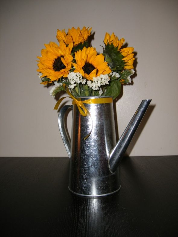My Rustic Picnicy Centerpieces wedding centerpiece ikea sunflowers fruit