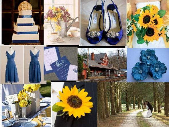STYLE Inspiration Board Blue and Yellow Summer Hometown wedding