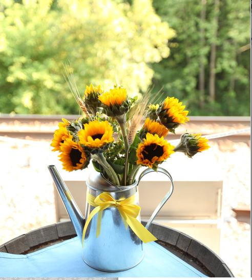 Sunflower table decorations for weddings photograph my diy