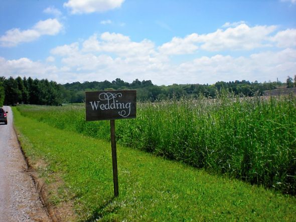 Rustic hand painted wooden wedding signs Philly area Chester County only