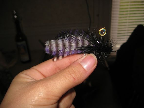 Fish Fly Bouts :  wedding boutonnieres purple fish fly black white silver diy IMG 2524
