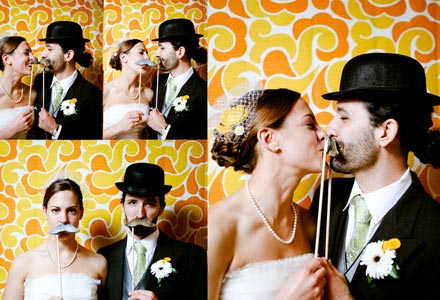 Mustachio! :  wedding mustaches photobooth reception Mustache 0602Blog