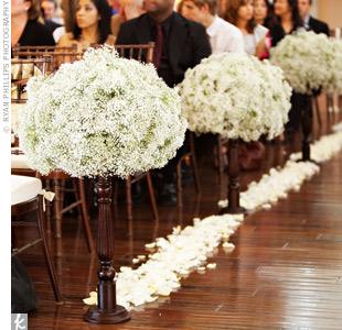 Baby's Breath :  wedding babys breath flowers ceremony Aisle