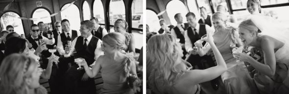 All Aboard! :  wedding transportation trolley Chicago Wedding Photography34013