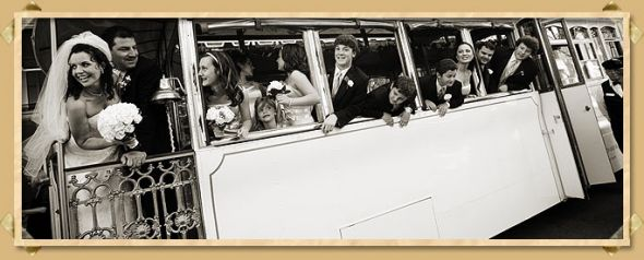 All Aboard! :  wedding transportation trolley Felicity Wedding Trolley1