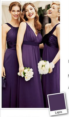 The Search Through the Rainbow of Purples :  wedding dress bridesmaid purple Lapis