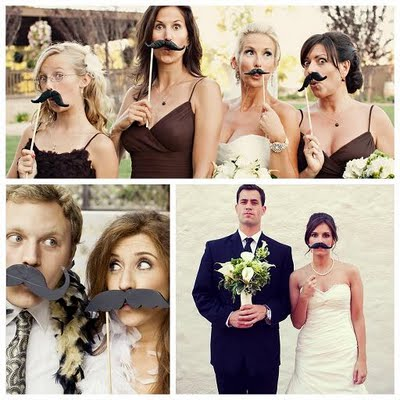 Mustachio! :  wedding mustaches photobooth reception Mustache On A Stick