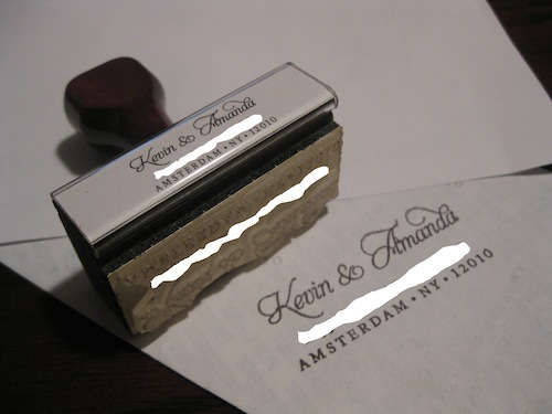Personalized Rubber Stamp :  wedding stamp return address Ourstamp