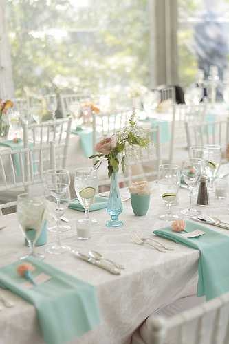 I love the idea of incorporating aqua Aqua and pink can be really cute