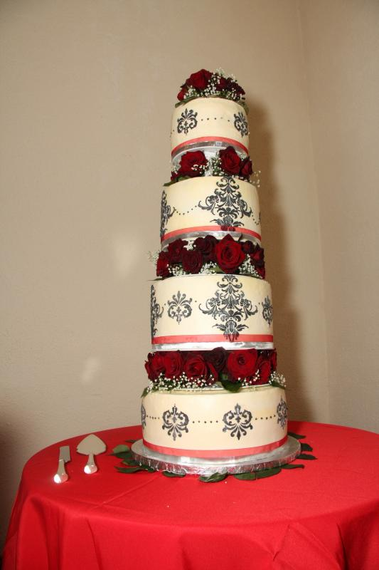 red and silver wedding theme