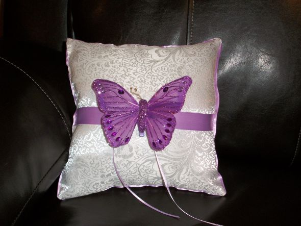 simple butterfly pillow