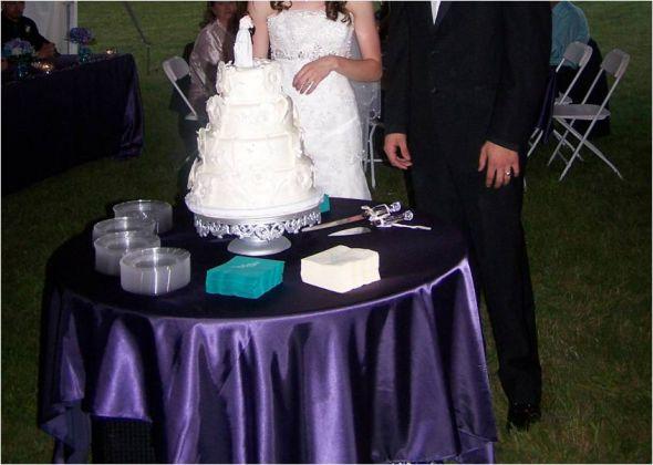 wedding eggplant platinum silver vases purple flowers diy reception
