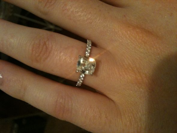 my cushion cut micropave engagement ring weddingbee