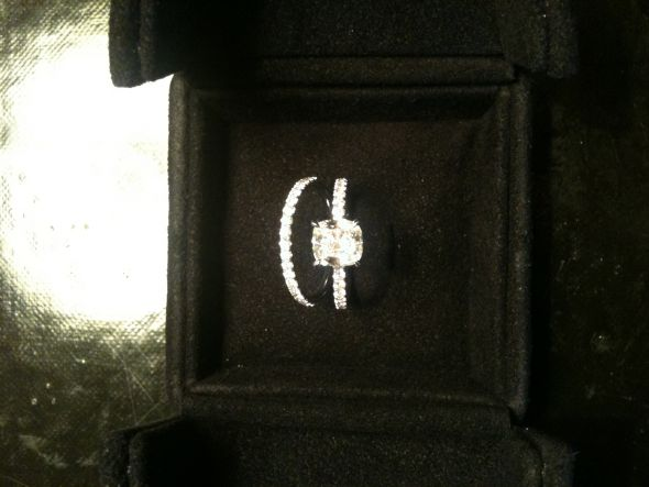wedding micropave cushion Ring Box 1 year ago