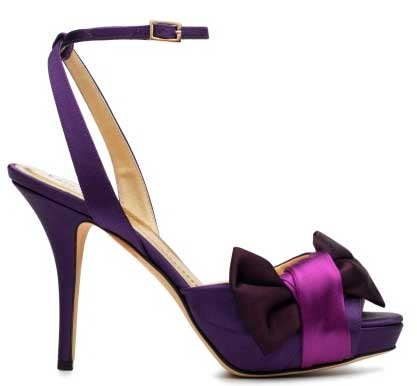Show me your purple shoes wedding Kate Spade Gracious Sandals