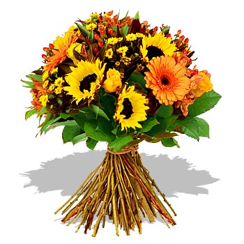 Sunflowers for a spring wedding wedding flowers 1664 Sunflowers Roses