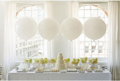 Bubble Balloons? :  wedding ballons bubble tacky decor elegant white White Balloon Wedding Ideas