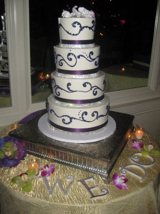 My wedding cake wedding gold purple ivory cake inspiration flowers