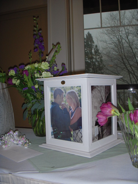 The Perfect Card Box in White 8x10 wedding card box white reception