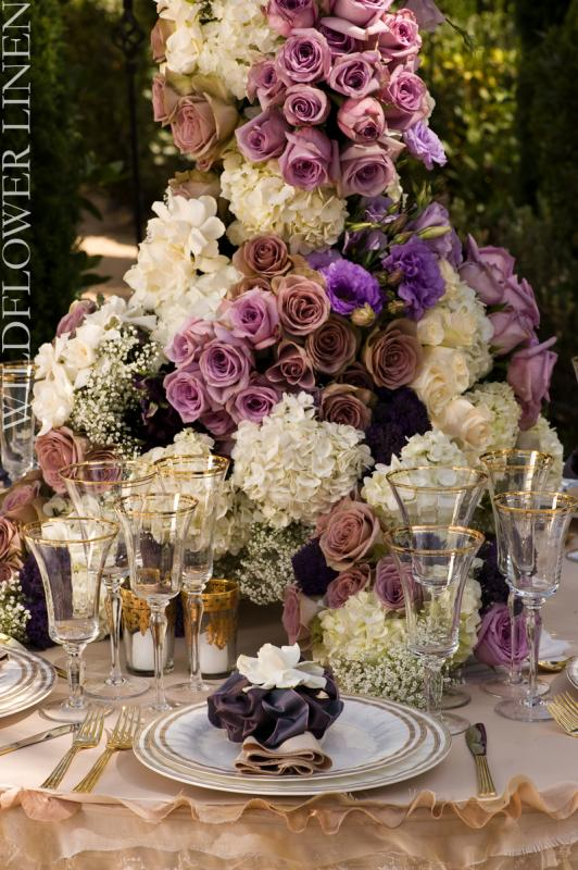Romantic Purple Wedding wedding gold purple ivory bouqet inspiration