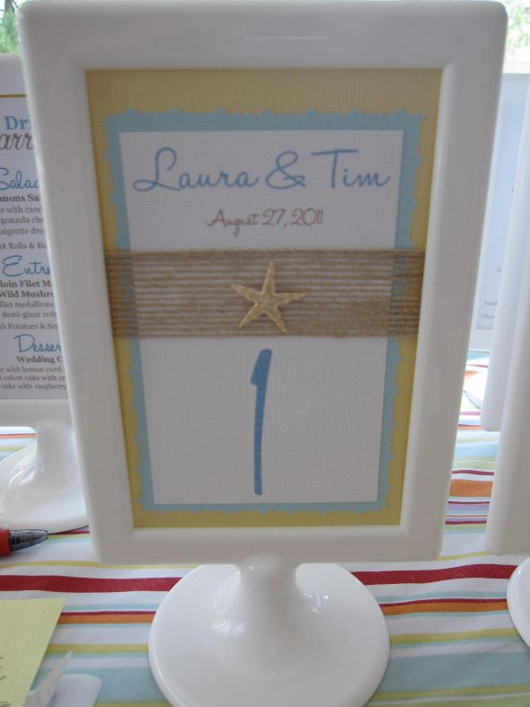Menu for beach wedding wedding menu ikea tolsby frame blue yellow diy