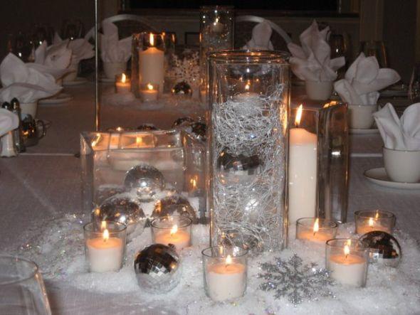 Christmas wedding centerpiece ideas weddingbee