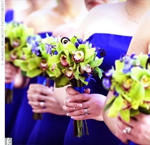 flowers for cobalt blue dresses — The Knot
