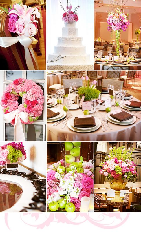 Brown Le Green Pink Share Your Wedding Colors
