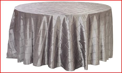 Pewter Dark Grey Satin Linens wedding silver reception Platinum Pintuck