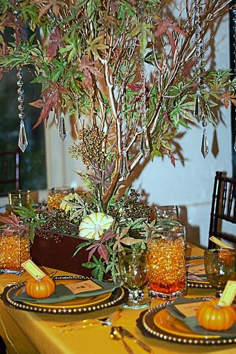 Fall Centerpieces wedding manzanita branches september october weddings